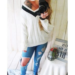 Vintage Welcoming Autumn chunky knit sweater 🍃
